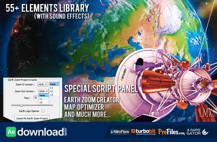 EARTH ZOOM PRO (VIDEOHIVE PROJECT) - FREE DOWNLOAD - Free