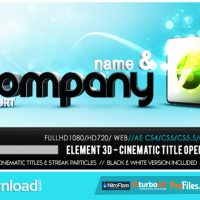VIDEOHIVE ELEMENT 3D – CINEMATIC TITLES OPENER – FREE DOWNLOAD