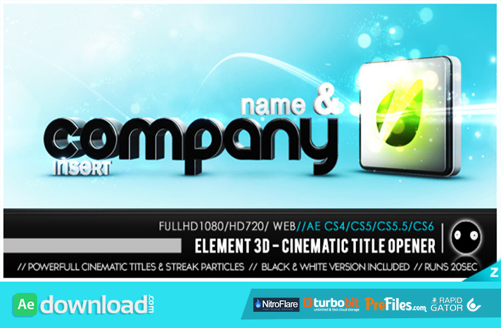 Element 3D - Cinematic Titles Opener Free Download After Effects Templates