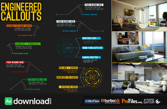 Engineered Call-Outs Free Download After Effects Templates
