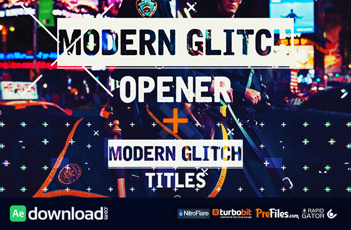Epic Modern Glitch Opener Free Download After Effects Templates