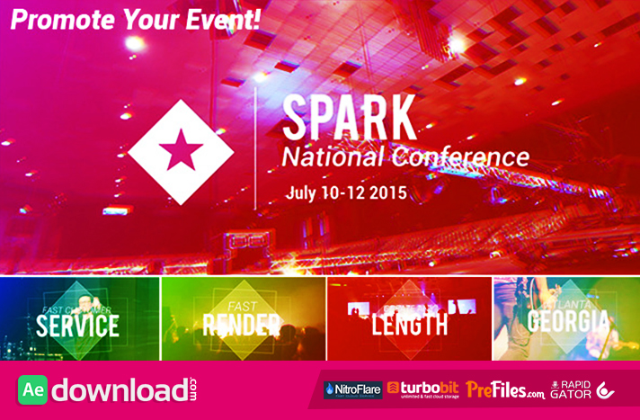 Event and Conference Promo Free Download After Effects Templates