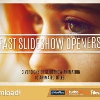 FAST SLIDESHOW OPENERS + 10 TITLES (VIDEOHIVE PROJECT) – FREE DOWNLOAD