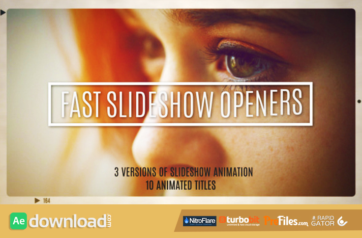 Fast Slideshow Openers 10 Titles Free Download After Effects Templates