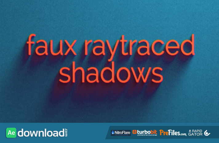 Faux Raytraced Shadow Preset Free Download After Effects Templates