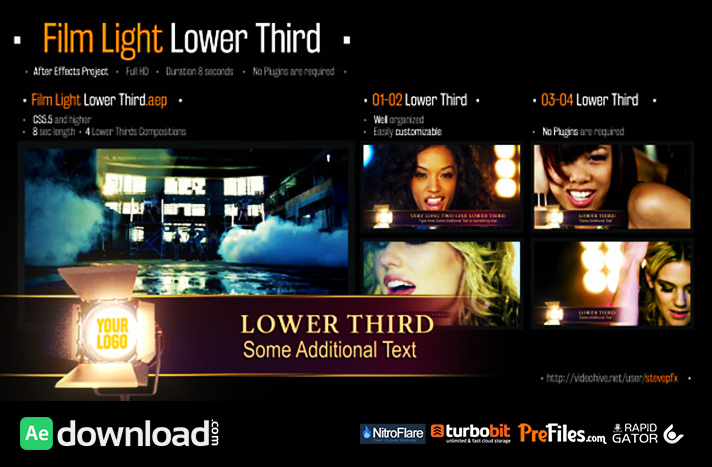 Film Light Lower Third Free Download After Effects Templates