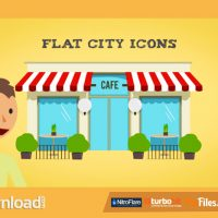 FLAT CITY ICONS (VIDEOHIVE) – FREE DOWNLOAD
