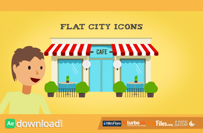 Flat City Icons Free Download After Effects Templates
