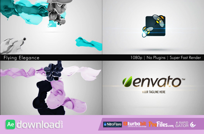 Flying Elegance Logo Reveal Free Download After Effects Templates