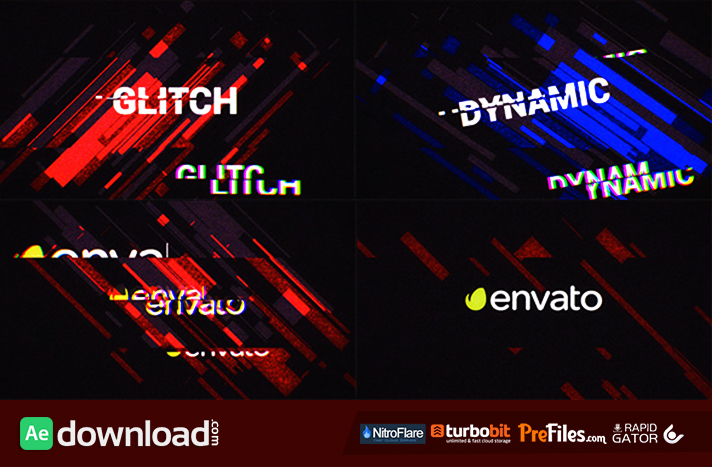 GLITCH LOGO OPENER Free Download After Effects Templates