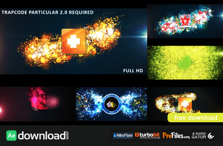 after effects templates free download - glowing particles logo reveal videohive free download