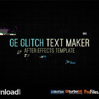 GE GLITCH TEXT MAKER (VIDEOHIVE PROJECT) – FREE DOWNLOAD