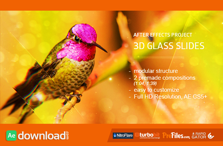 Glass Slides 3D Free Download After Effects Templates
