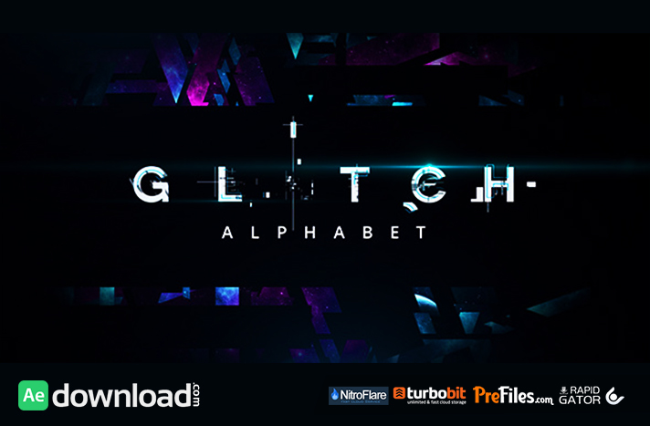 Glitch Alphabet Free Download After Effects Templates