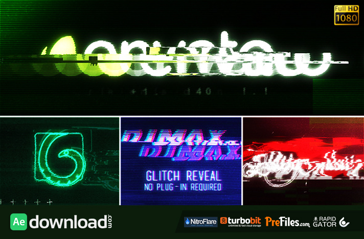 Glitch Reveal Free Download After Effects Templates
