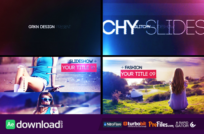 Glitch - Slideshow Free Download After Effects Templates