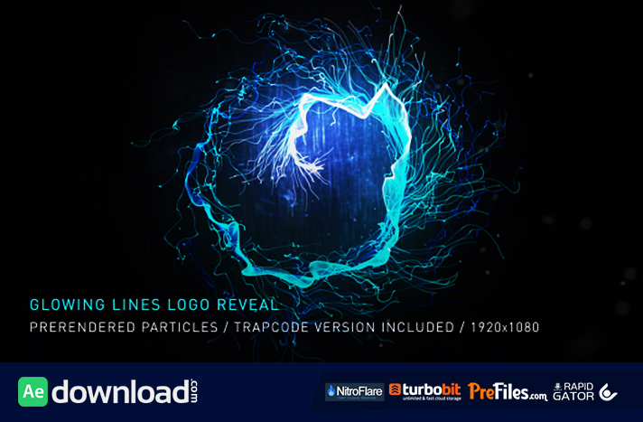 Glowing Lines Logo Reveal Free Download After Effects Templates