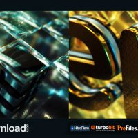 GOLD & BLACK CRYSTALLIZED GLASS LOGO REVEAL (VIDEOHIVE PROJECT) – FREE DOWNLOAD