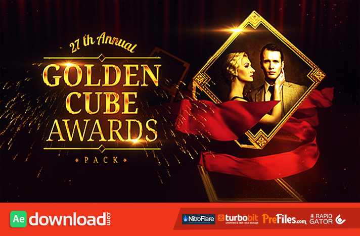 Golden Cube - Awards Pack Free Download After Effects Templates