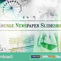 VIDEOHIVE GRUNGE NEWSPAPER SLIDESHOW – FREE DOWNLOAD