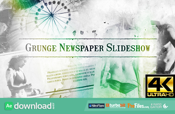 Grunge Newspaper Slideshow Free Download After Effects Templates