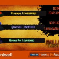 HALLOWEEN LOWER THIRDS (VIDEOHIVE PROJECT) – FREE DOWNLOAD