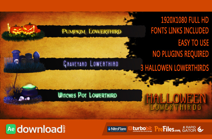 Halloween Lower Thirds Free Download After Effects Templates