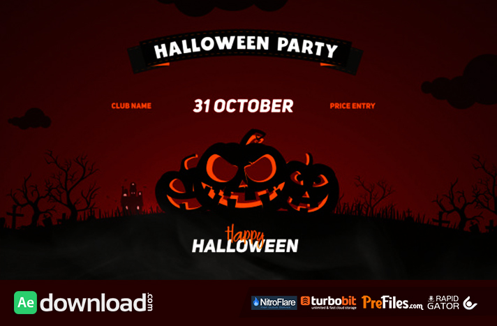 Halloween Party Opener Free Download After Effects Templates