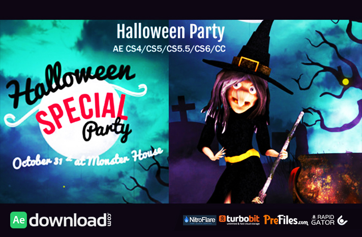 Halloween Party Wish Free Download After Effects Templates