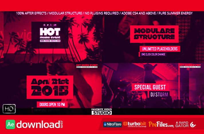 Hot Music Event Free Download After Effects Templates