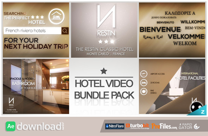 Hotel Video Bundle Pack Free Download After Effects Templates