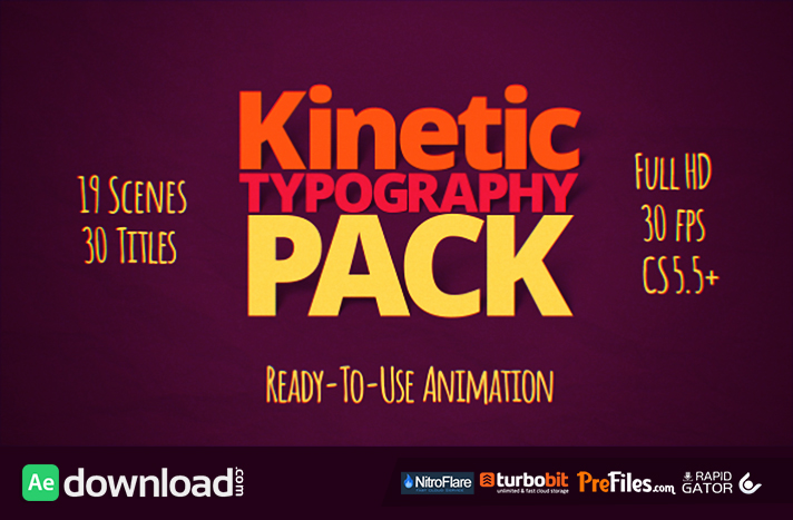 Kinetic Typography Pack Free Download After Effects Templates