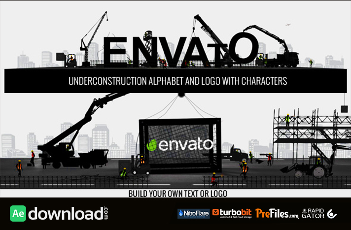 Logo Constructor Alphabet Builder With Characters Free Download After Effects Templates