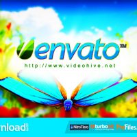 LOGO FEATURING BUTTERFLIES IN NATURAL ENVIRONMENT FREE DOWNLOAD