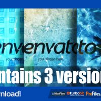 LOGO IN WATER – (VIDEOHIVE TEMPLATE) – FREE DOWNLOAD
