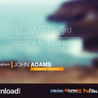 LOWER 3RDS – CLEAN LINES (VIDEOHIVE PROJECT) – FREE DOWNLOAD