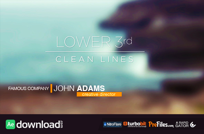 Lower 3rds - Clean Lines Free Download After Effects Templates
