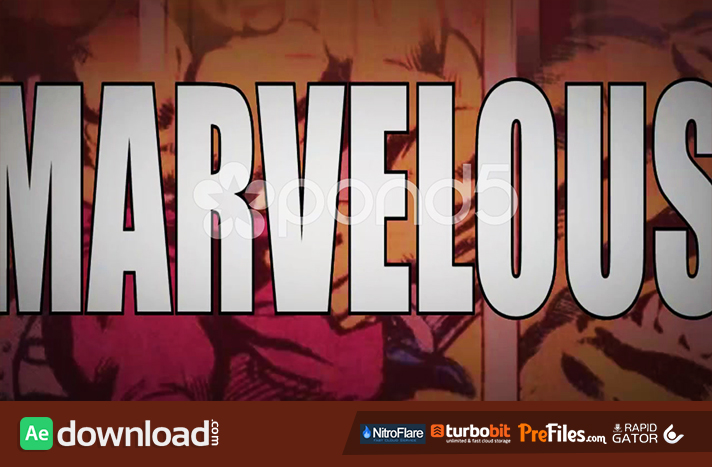 MARVELOUS - A MARVEL SUPERHERO & COMIC THEMED INTRO OPENER Free Download After Effects Templates