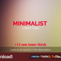 MINIMALIST LOWER THIRD (VIDEOHIVE) – FREE DOWNLOAD