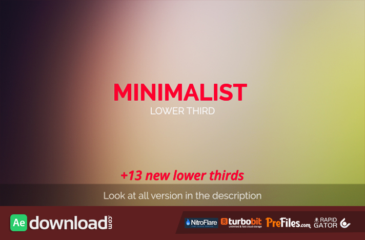 MInimalist Lower Third Free Download After Effects Templates