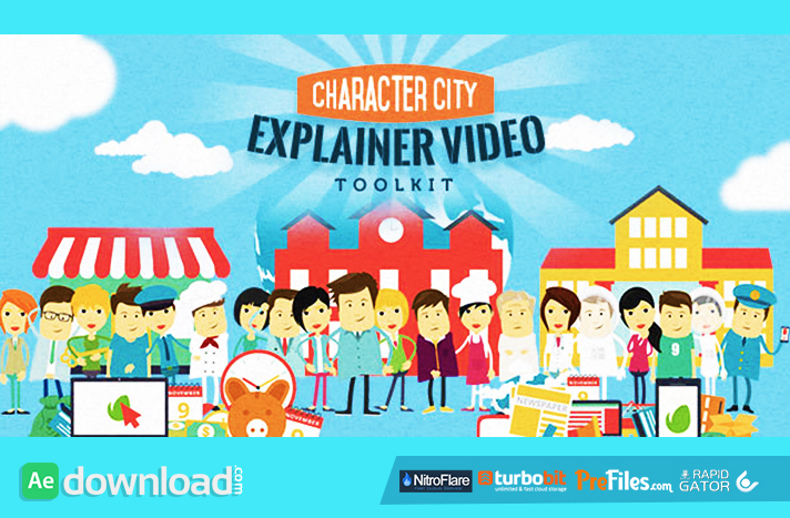 MEGA EXPLAINER TOOLKIT CHARACTER CITY VIDEOHIVE PROJECTS FREE - Explainer video templates