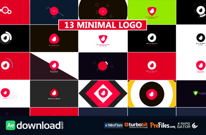Minimal Logo Reveal Pack Free Download After Effects Templates
