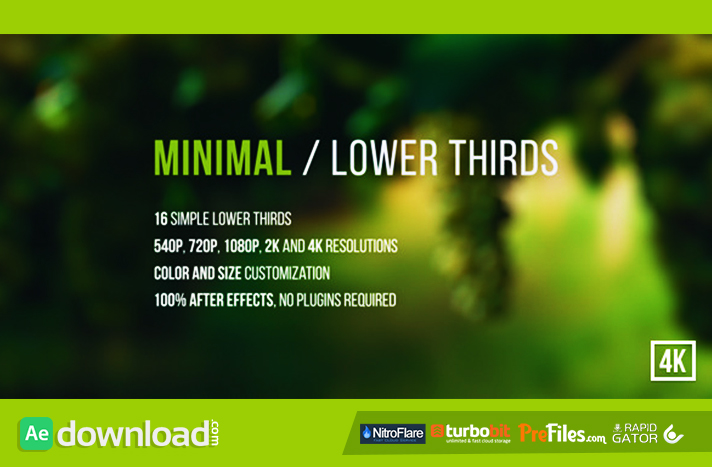Minimal Lower Thirds Free Download After Effects Templates