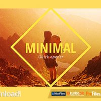 MINIMAL OPENER SLIDESHOW (VIDEOHIVE) – FREE DOWNLOAD