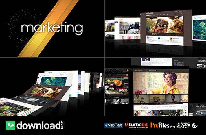 Modern Intro Demo Reel Free Download After Effects Templates