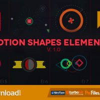 MOTION SHAPES – ANIMATED ELEMENTS – (VIDEOHIVE TEMPLATE) – FREE DOWNLOAD