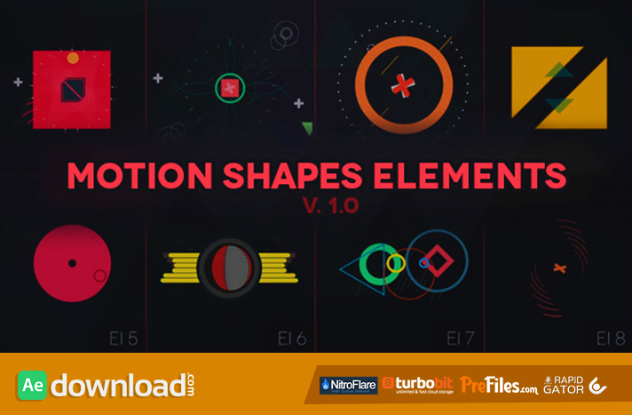 MOTION SHAPES - ANIMATED ELEMENTS - (VIDEOHIVE TEMPLATE