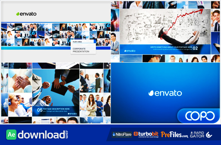 multi video corporate presentation (videohive project) - free, Presentation templates