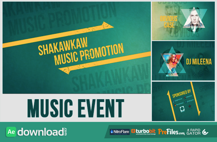 VIDEOHIVE MUSIC EVENT PROMO - FREE DOWNLOAD - Free After Effects