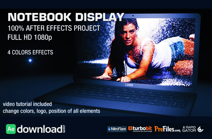 NOTEBOOK DISPLAY (VIDEOHIVE PROJECT) - FREE DOWNLOAD - Free After